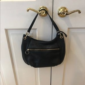 Michael Kors black pebbled leather hobo bag